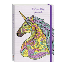 Load image into Gallery viewer, Colour This Journal Unicorn