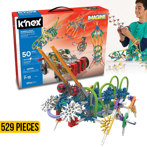 Knex Power and Play Building Set 529 Pieces