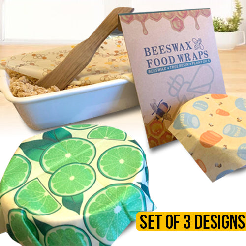 Beeswax Reusable Food Storage Wraps Set of 3