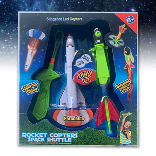 Rocket Copters & Space Shuttle 2 In 1 set