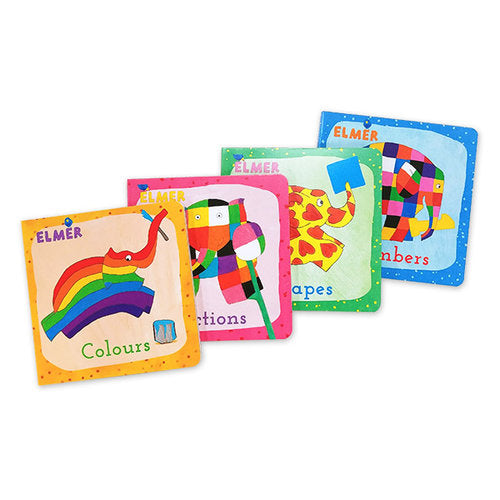 Elmer First Concepts Board Books - Book Sale