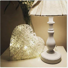Load image into Gallery viewer, White LED Rattan Heart