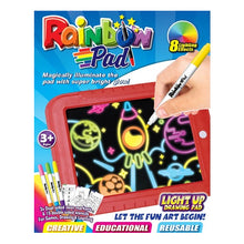 Load image into Gallery viewer, Light Up Drawing Pad Deluxe - with Markers & Stencils