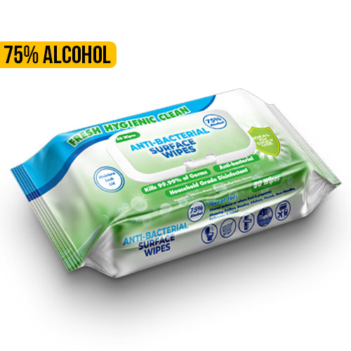 75% Alcohol Disinfectant Surface Wipes