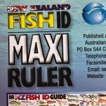 Load image into Gallery viewer, New Zealand Fish ID Maxi Ruler