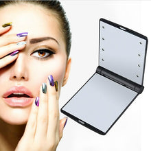 Load image into Gallery viewer, 8 LEDs Makeup Travel Mirror