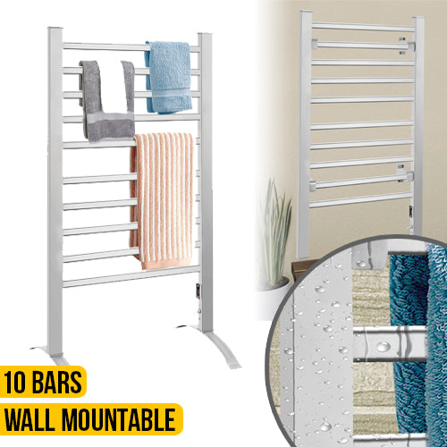 2-in-1 Heated Towel Warmer - Freestanding or Wall Mounted