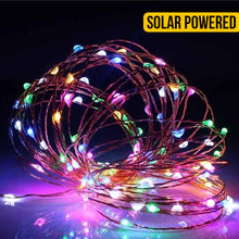 Load image into Gallery viewer, Solar Power Copper Seed String Light