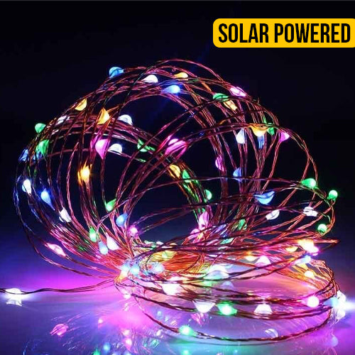 Solar Power Copper Seed String Light