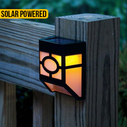 Vintage Style  Solar Powered Fence Light