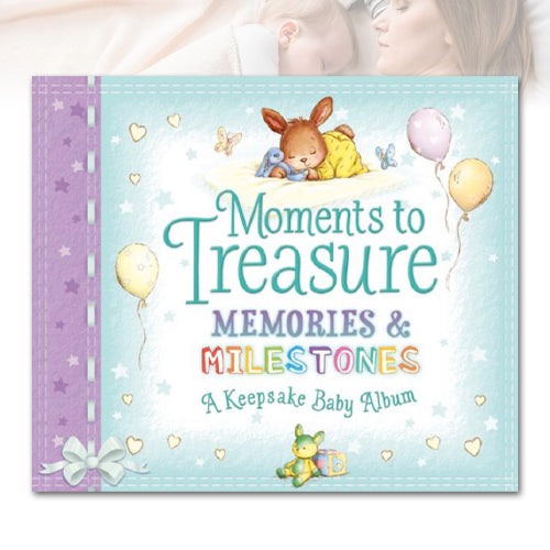 Moments to Treasure Baby Album and Milestone Cards