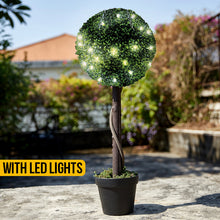 Load image into Gallery viewer, Solar Topiary Ball Tree With Lights
