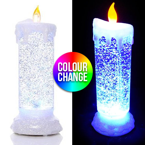 LED Swirling Candle