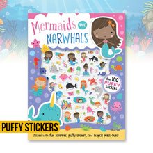 Load image into Gallery viewer, Mermaids and Narwhals Puffy Stickers