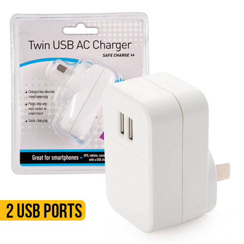 Twin USB AC Charger