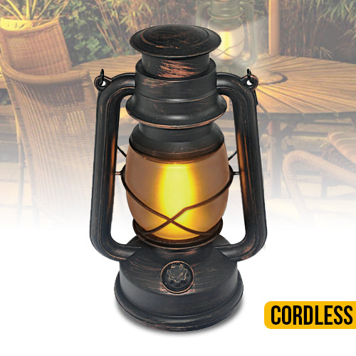 Vintage Flame Lantern - Stylish Frosted Glass