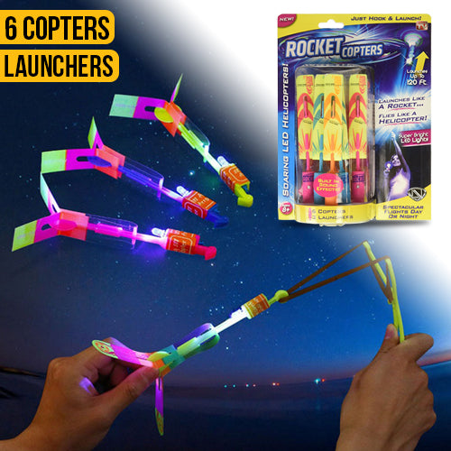 LED Light Up Flying Copter