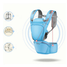 Load image into Gallery viewer, All in 1 Baby Hip Seat Carrier Denim Blue