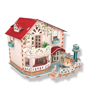 CubicFun Holiday Bungalow Dollhouse