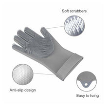 Load image into Gallery viewer, Silicone Dishwashing Gloves Grey