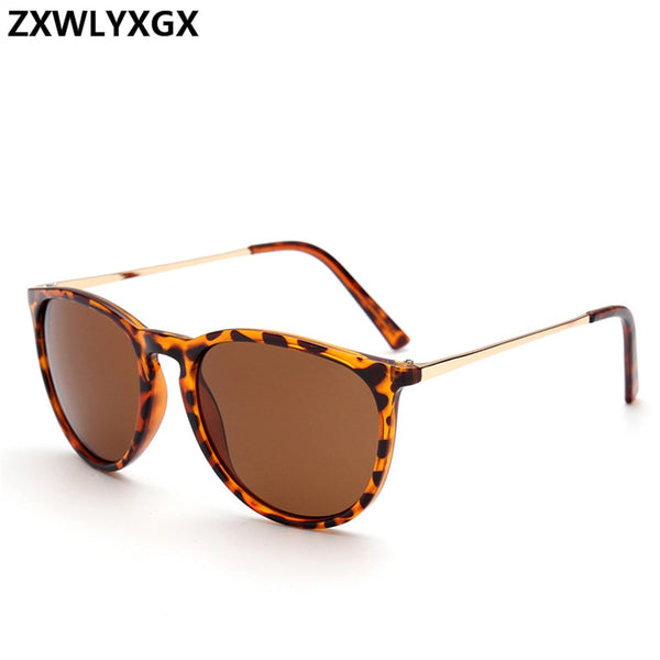 ZXWLYXGX  2018 Retro Male Round Sunglasses Women Men Brand Designer Sun Glasses for Women Alloy Mirror Sunglasses Oculos De Sol