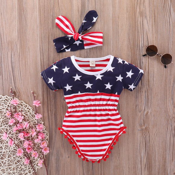 Stars and Stripes Romper Set
