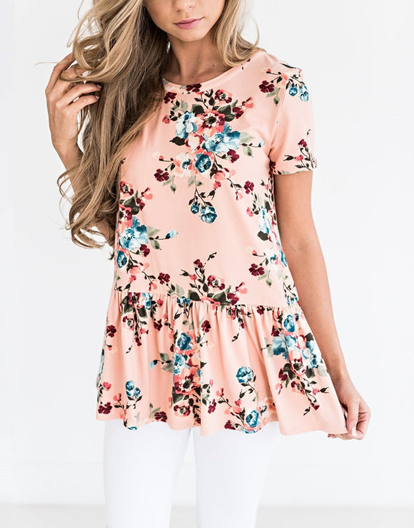 Ruffle Flower Spring Top (2 Colors)