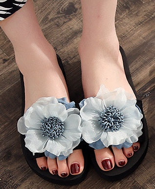 Cornflower Blues Lady Slides