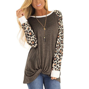 Wild One Leopard Sleeve Tee