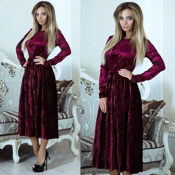 Crush Cozy Velvet Dress