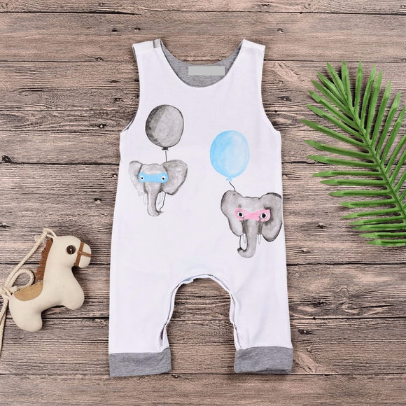 Masked Superhero Elephants Romper