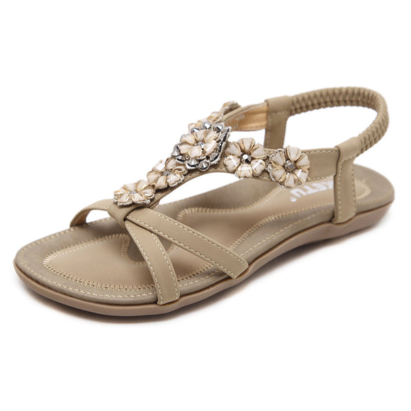 POP! Stock- Comfy Beaded Flower Flat