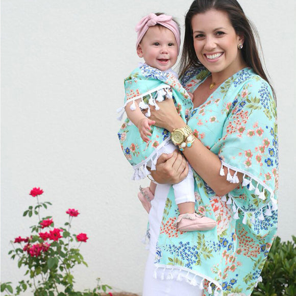 Mommy & Me Floral Wraps