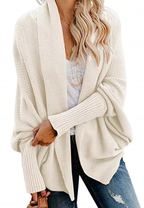Batwing Textured Cardi (7 Colors)