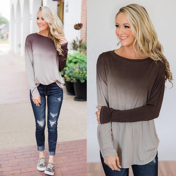 Ombre Sweatshirt Tunic (2 colors)