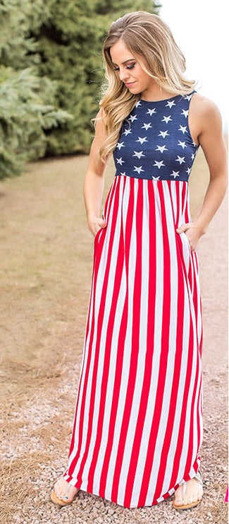 Doodle Dandy Pocket Maxi Dress