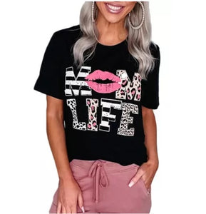 POP! Stock - Mom Life Pucker Up Tee