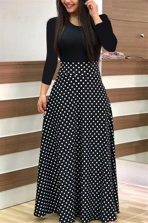Practically Perfect Polka Dot Dress