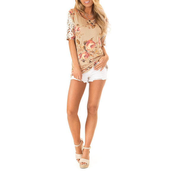 Flowers and Lace Tee