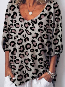 Loose Leopard Comfy Shirt (Up to 3XL!)