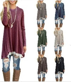 Lace Bottom Easy Tunic