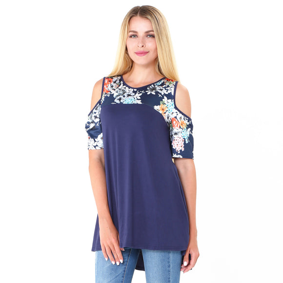Floral Cutout Tee (2 Colors)