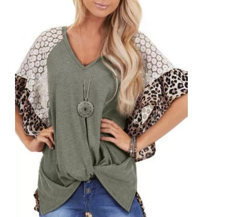 Wide Sleeve Multi Knot Top (Two colors, up to Size 3XL!)