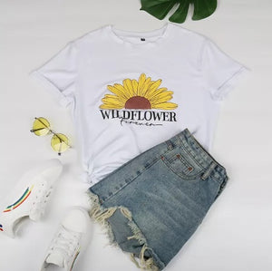 Wildflower Forever Tee (Two Colors! Sizes up to 2XL!)