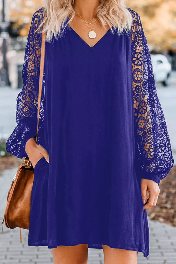 Lacey Long Sleeve Shift Dress