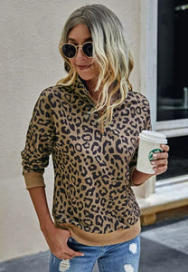 Leopard Zip Up Pre-Sale (3 colors)