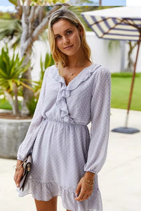Dots Forever Long Sleeve Wrap Dress