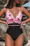 POP! Stock- Criss Cross Floral Swimsuit
