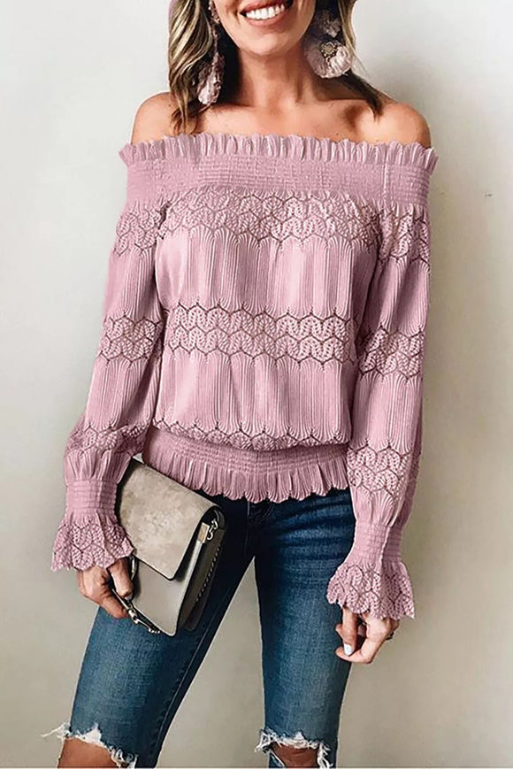 Off Shoulder Smocked Top (2 Colors)