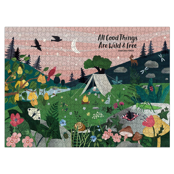 Flow Puzzle 'All Good Things Are Wild and Free' 1000 Piece Jigsaw